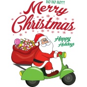 Funny Santa Claus Xmas Merry Christmas Motorcycle by For More ...