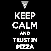 Keep Calm Quotes Funny Pizza Design Tee Gift Men\'s Premium T-Shirt - black
