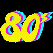 80s Neon Retro Graphic Travel Mug - white