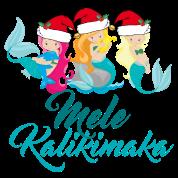 Hawaiian Merry Christmas.Mele Kalikimaka Hawaiian Merry Christmas Mermaids Full Color Mug Black