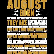 August Born Quotes Tshirt Unisex Fleece Zip Hoodie - black