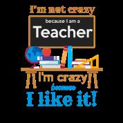 Funny Teacher I Am Not Crazy Quotes Statement Unisex Fleece Zip
