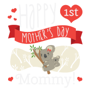 Happy Mothers Day Message Mom Grandma Koala Gift Men's Premium T