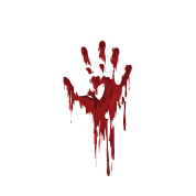 I Am Fine | Bloody Hand Halloween Spook Nightmare Men's Big & Tall Hoodie -  black