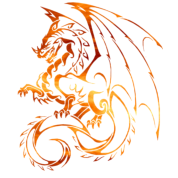 Chinese Zodiac Fire Flame Dragon Fantasy Mythical Men's Premium Tank - black