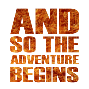 And So The Adventure Begins Cool Fire Letters Enamel Mug Spreadshirt