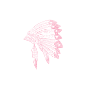 Pink Indian Chief Hat Tribal Art Tribe Floral Women's Premium T