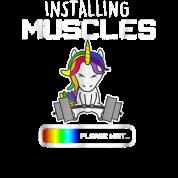 5eb5f7a5 Installing Muscles - Unicorn Loading - Funny Lifti Women's Vintage ...