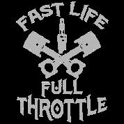 Fast Life Full Throttle Motorsports Motocross Men's T-Shirt