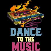 Dance to the Music 80s 90s Music Cassette Retro Men's T