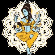 Yoga Meditation Retro Woman Music Design  Women's Premium T