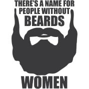 There's a name for people without beards Women