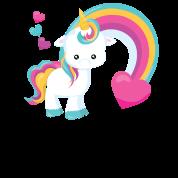 Cute Baby Unicorn Rainbow Hearts Unicorns