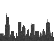 chi chicago skyline silhouette by bespoketech spreadshirt