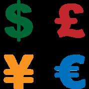 Dollar Pound Yen Euro Currency Symbol