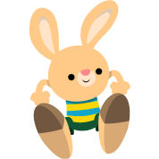 Cute Leaping Cartoon Rabbit by Cheerful Madness!!