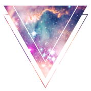 Galaxy - Space - Universe / Hipster Triangle Hoodie ...