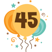45th Birthday Balloons Party