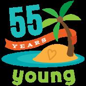 55th Birthday 55 Years Young Hawaiian