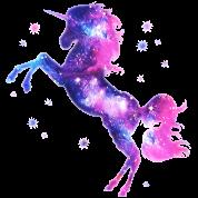 Cosmic Unicorn Galaxy Space Universe Horse Girls Ruffle T Shirt