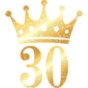 30th birthday crown number 30 ancient gold by theshirtshops