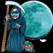 Evil Clown Grim Reaper Men's Premium T-Shirt - noble brown