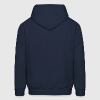 Navy football linebacker silhouette Hoodies - Men's Hoodie