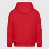 Red ussraged Hoodies - Men's Hoodie
