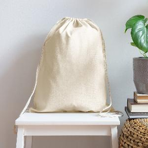 Cotton Drawstring Bag - Front