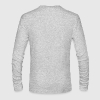 White Da Vinci's Vitruvian Man Long Sleeve Shirts - Men's Long Sleeve T-Shirt by Next Level