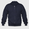 Navy Retro rainbow Zip Hoodies/Jackets - Men's Zip Hoodie