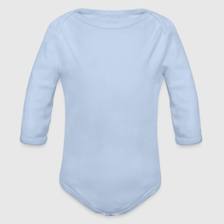 Organic Long Sleeve Baby Bodysuit - Front