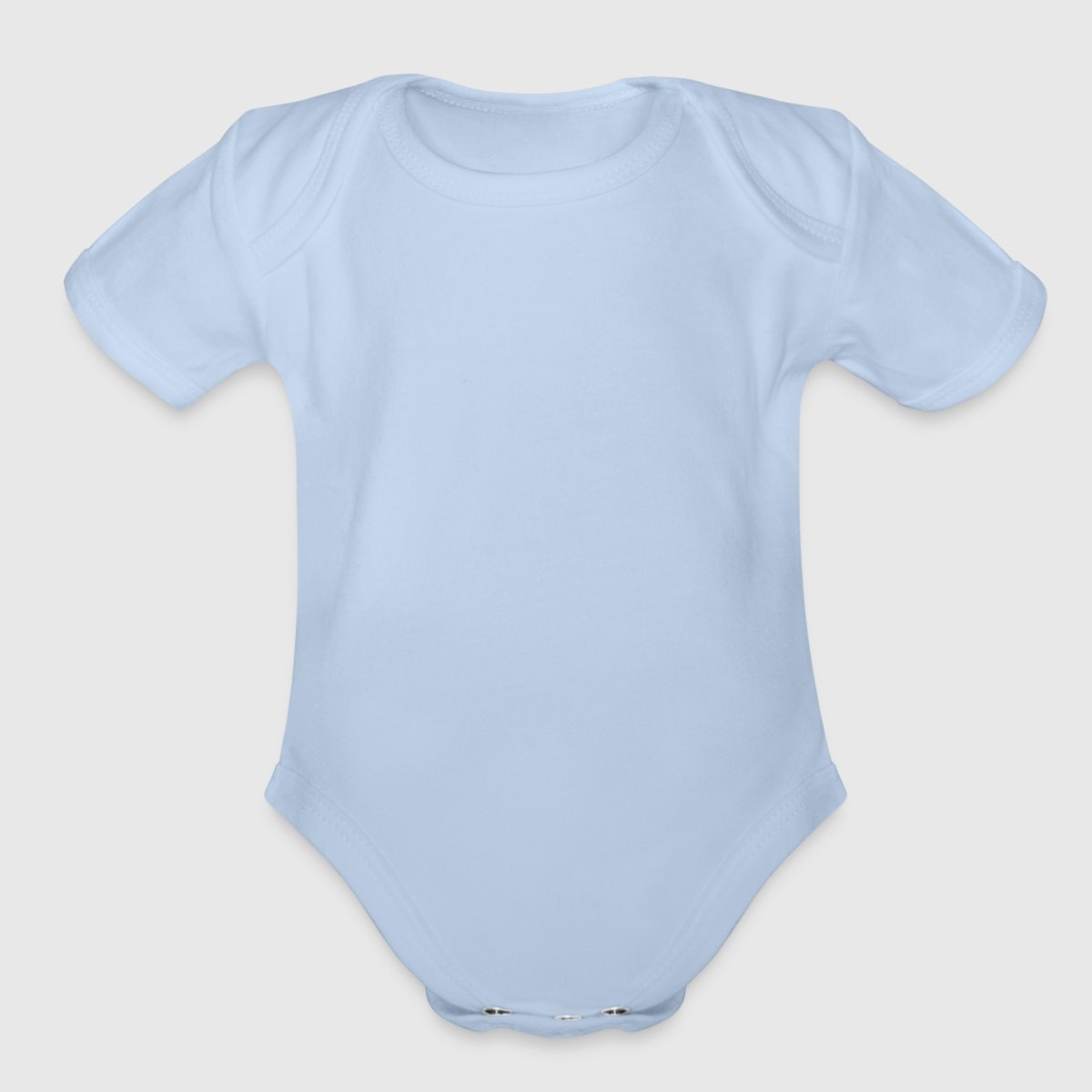 Organic Short Sleeve Baby Bodysuit - Front