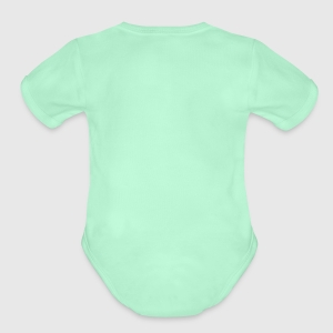 Organic Short Sleeve Baby Bodysuit - Back