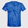 Orange Awareness Ribbon Unisex Blue Tie-Dye T-Shir - Unisex Tie Dye T-Shirt