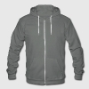 Endless Summer Zip Hoodies/Jackets - Unisex Fleece Zip Hoodie by American Apparel
