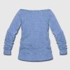 Big Blue Wrecking Crew Football - Women's Wideneck Sweatshirt