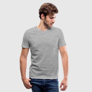 Men's V-Neck T-Shirt by Canvas - Front