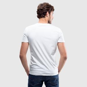 Men's V-Neck T-Shirt by Canvas - Back