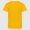 Yellow open heart outline (1c) Kids' Shirts - Kids' Premium T-Shirt