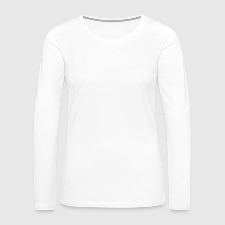 Women's Premium Slim Fit Long Sleeve T-Shirt - Front