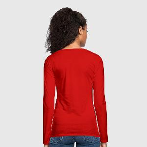 Women's Premium Slim Fit Long Sleeve T-Shirt - Back