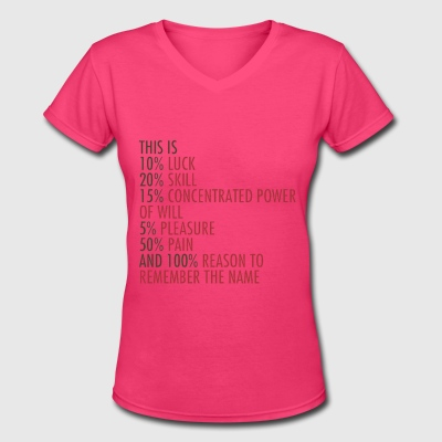 REMEMBER THE NAME Women's T-Shirts - Women's V-Neck T-Shirt