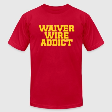 Waiver Wire Addict (Green & Yellow) - Men's T-Shirt by American Apparel