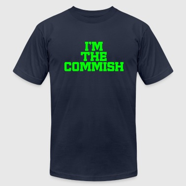 I'm The Commish (Navy & Neon Green) - Men's T-Shirt by American Apparel