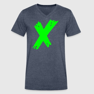 Grunge X - Men's V-Neck T-Shirt by Canvas