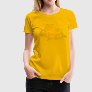 Cuddly But Muscular Wombat Women's T-Shirts - Women's Premium T-Shirt