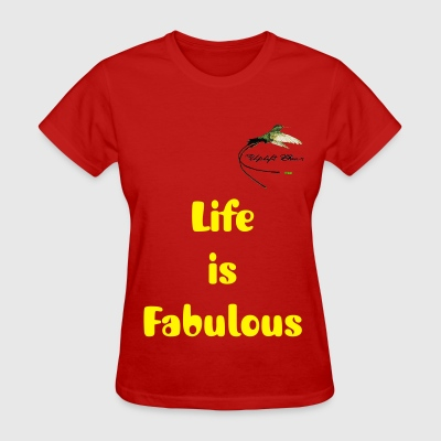 Uplift Gear, Womens Red Life Is Fabulous T-Shirt  - Women's T-Shirt