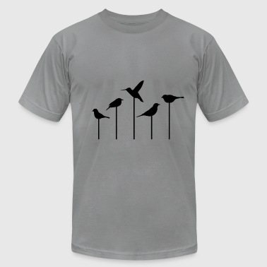 BIRDS-on-STICKS - Men's T-Shirt by American Apparel
