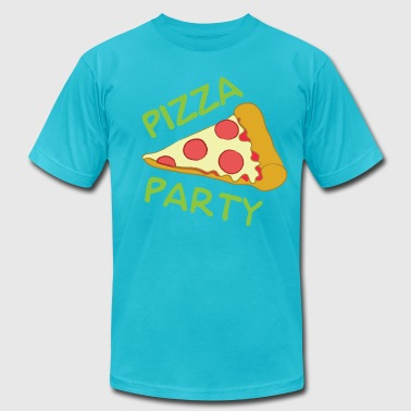 Pizza Party Men's T-Shirt (American Apparel) - Men's T-Shirt by American Apparel